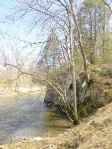 Henze River and Boulder
